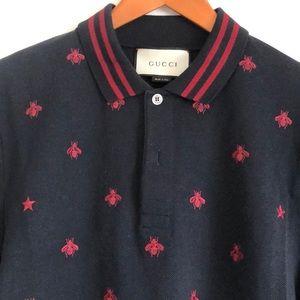 bbbbf3942 Gucci Shirts | Polo Shirt With Bees And Stars | Poshmark